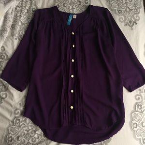NWOT: Francesca's Button Down Blouse
